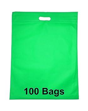 cd73ebb3a Carrier bags 100 Degradable Bolsas Tela no tejida bolsas de bolsa de la  compra reutilizable, para Life - 100 pcs, Verde, 41cm x 53cm: Amazon.es:  Hogar