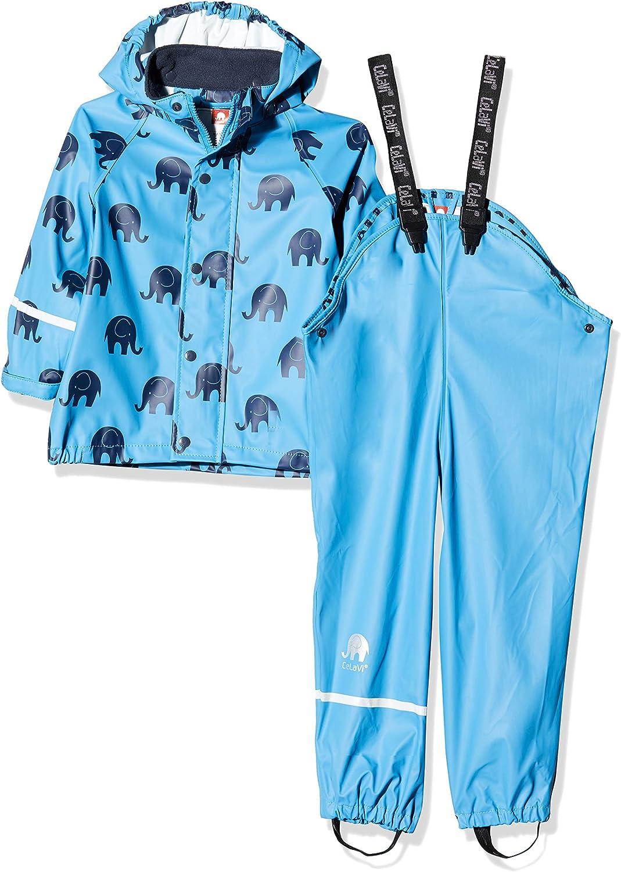Herstellergr/ö/ße:120 Blue 728 , Blau CeLaVi Jungen Zweiteiliger Regenanzug mit Elefanten Druck und in vielen Farben Regenjacke