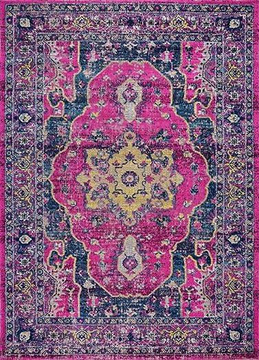 Ladole Rugs Pink Purple Traditional Indoor Outdoor Area Rug Living Room Bedroom Entrance Hallway Carpet 5×8 5 3 x 7 5 160cm x 230cm 5×7 8×10 9×12 2×10 4×6 feet