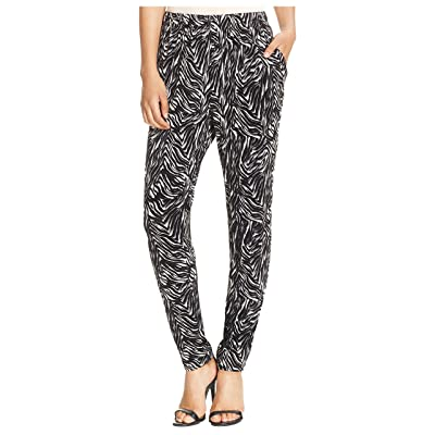 122ff7b2934d26 Hue Women's Relaxed Jersey Elastic Zebra Leggings Black Large ...