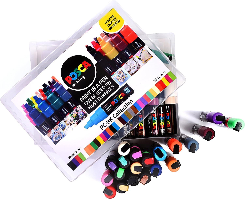 Posca 153544870 - Pack de 33 rotuladores de pintura al agua ...