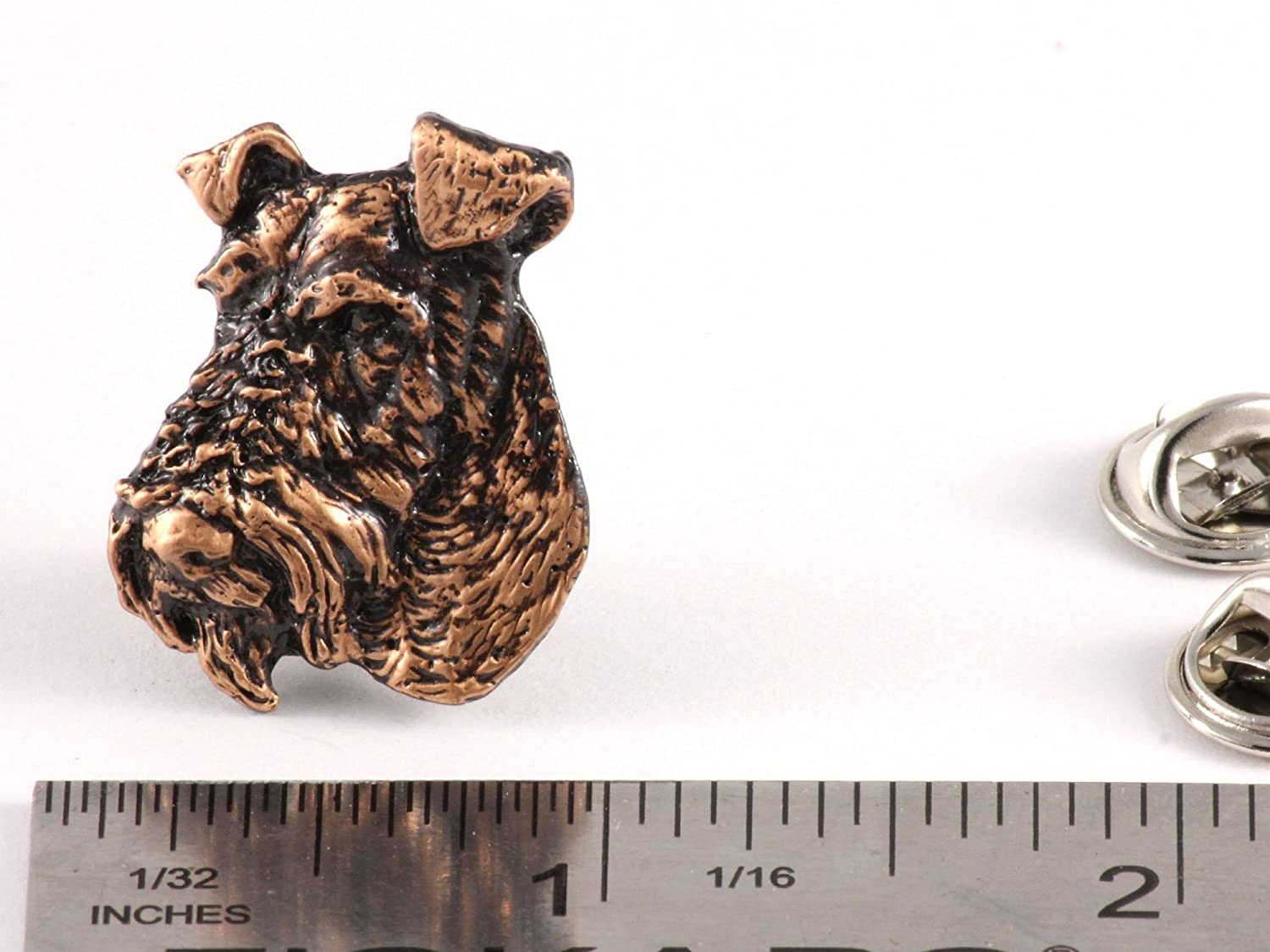Brooch D184 Jewelry Wire Fox Terrier Dog Pewter Lapel Pin
