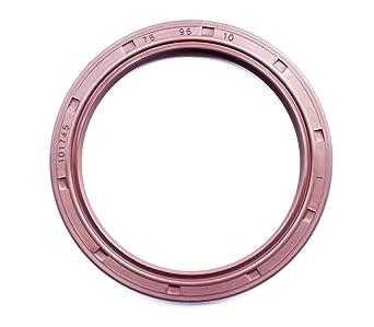 EAI VITON Metric Oil Shaft Seal 42x72x10mmDust Grease TC Double Lip w// Spring