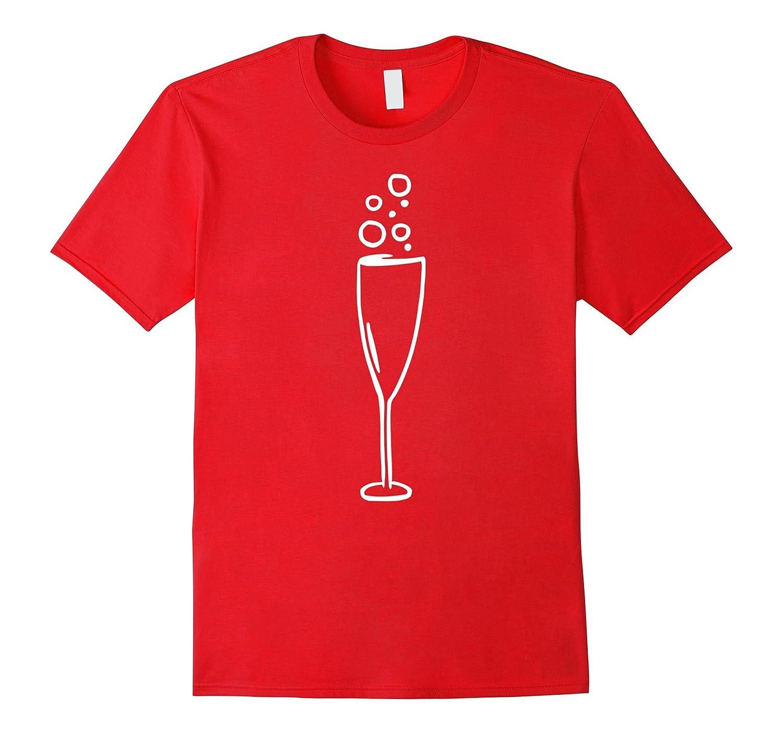 Sparkling wine glass T-Shirt-CL