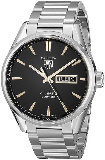 Reloj de pulsera de la marca TAG Heuer. Analógico, automático, para hombre, hecho de acero inoxidable WAR201C.BA0723: Amazon.es: Relojes