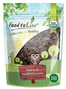 California Organic Raisins, 2 Pounds - Thompson Seedless Select, Sun-Dried, Non-GMO, Kosher, Unsulphured, Bulk, No Oil Added