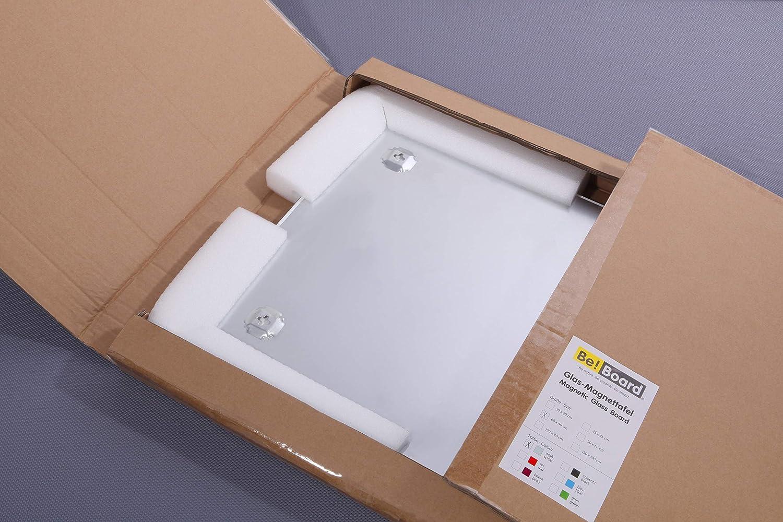 45 x 45 cm nero Be!Board B1101 Lavagna magnetica di vetro