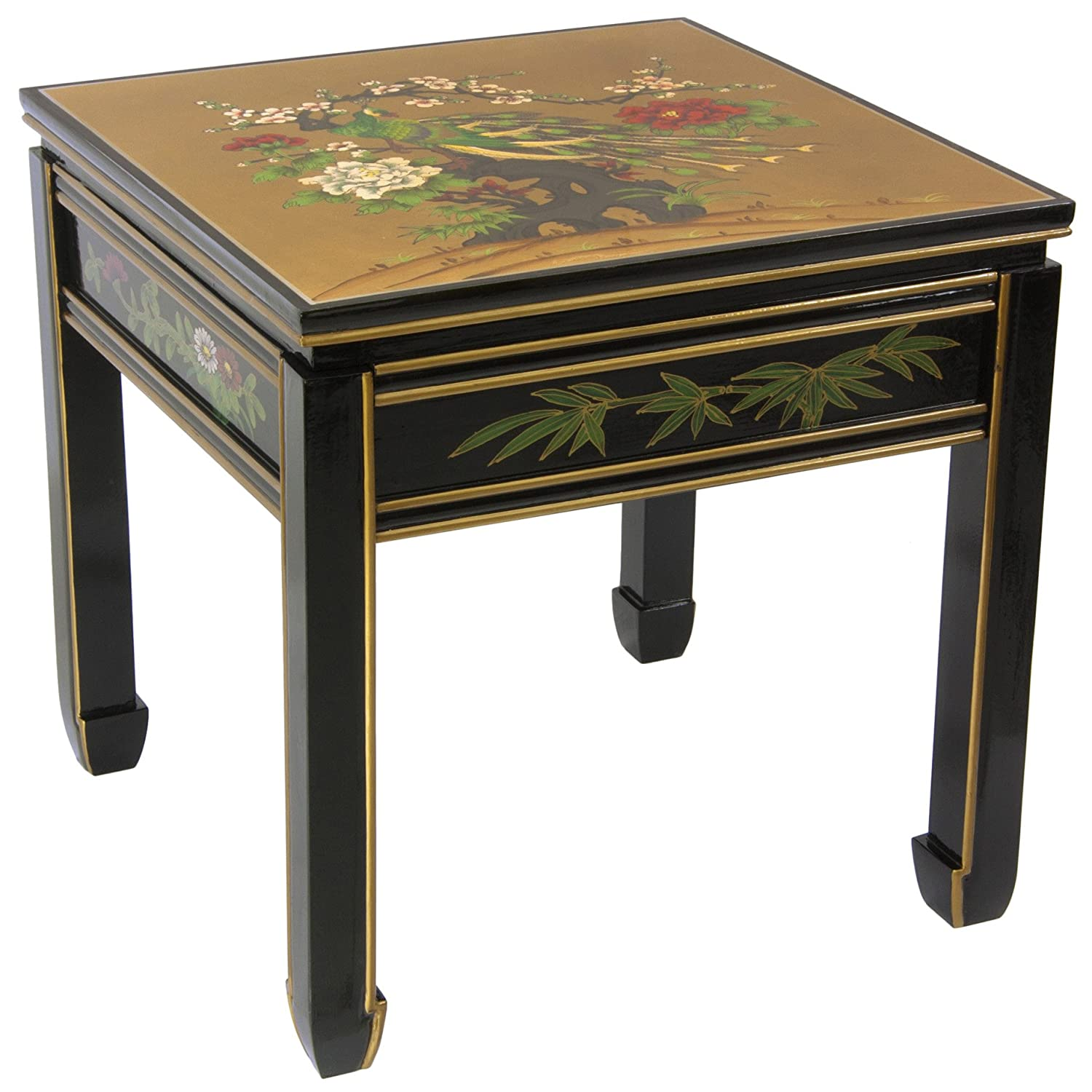 Amazon Oriental Furniture Black Lacquer Square Ming Table