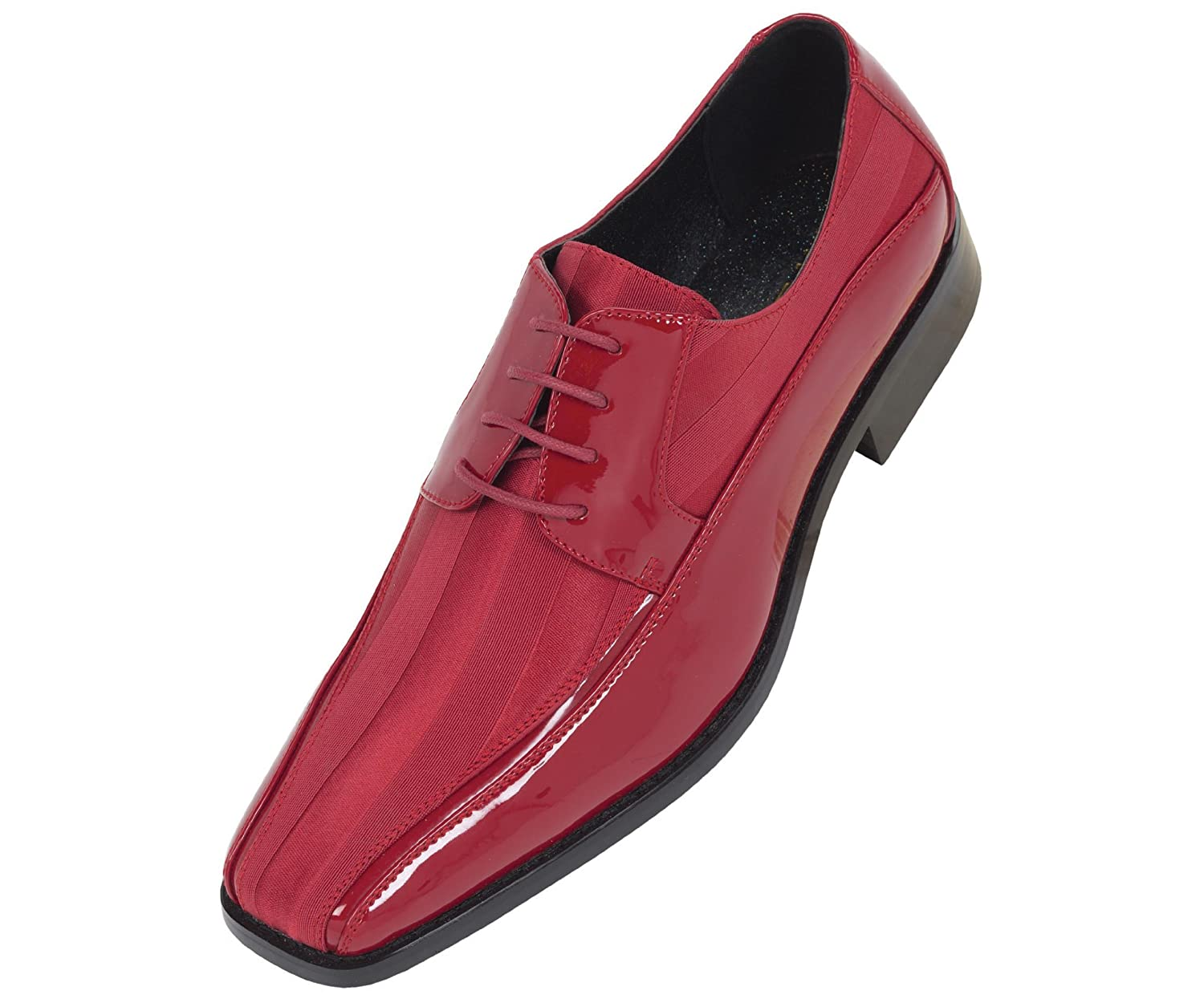 Amazon.com | Viotti Mens Red Dress Oxford with Striped Satin and ...