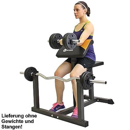 GAT Potencia Curl banco de entrenamiento púlpito banco para ejercicios de bíceps y tríceps con ejercicios