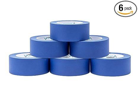 Amazon.com: Paquete de 6 cintas azules para pintores de 1,88 ...