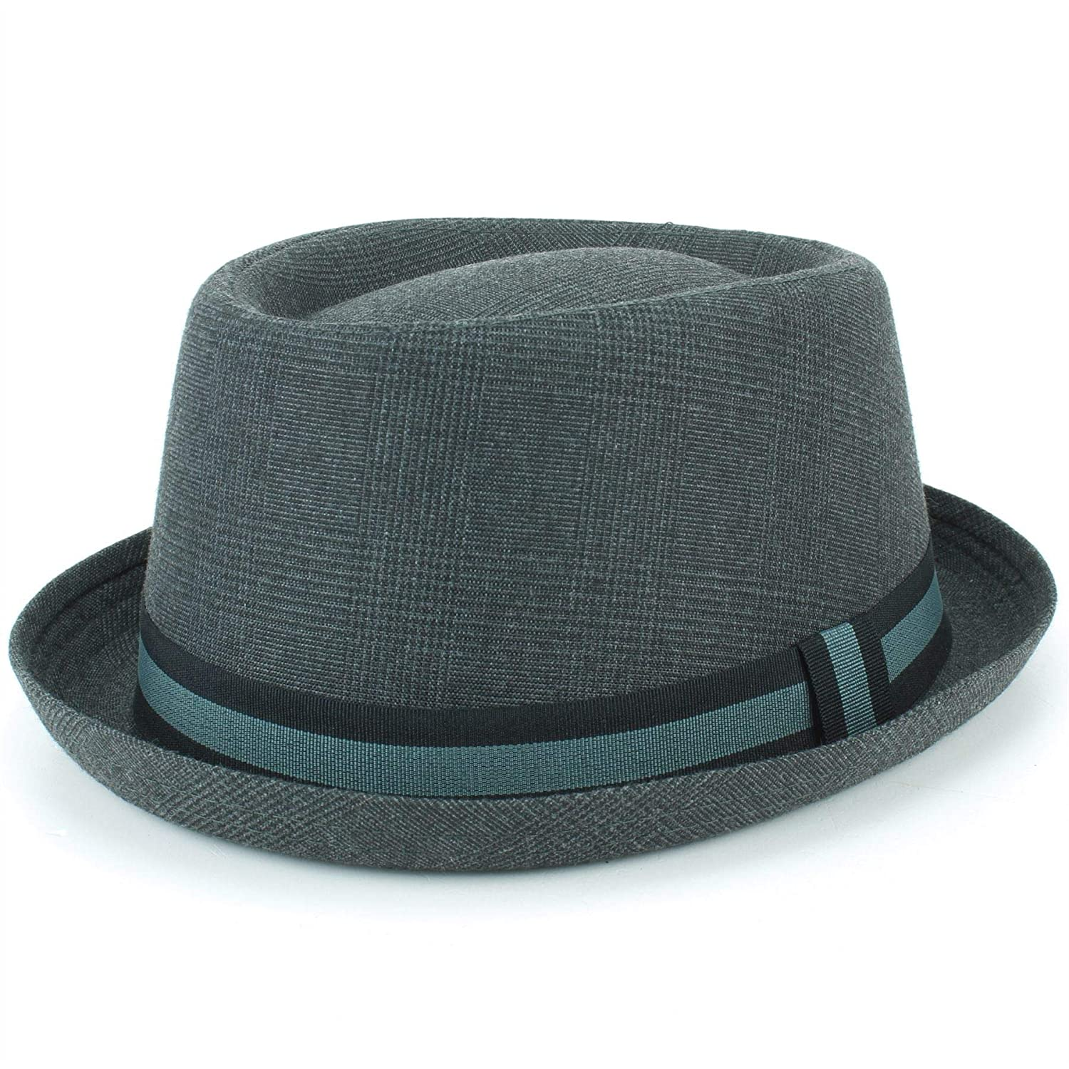 Hawkins Grey Tweed Porkpie Hat Pork Pie Trilby Fedora