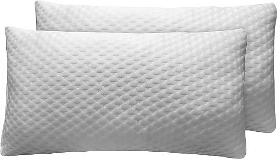 Sunlay - Pack de 2 almohadas viscoelásticas de copos con funda de ...
