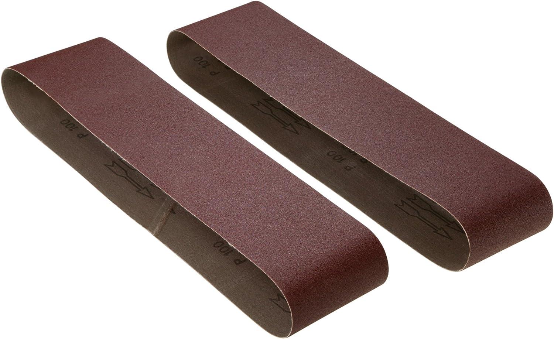 Rockwell Belt//Disc Combo Sander /& Woodstock D1251 4-Inch by 36-Inch 100 Grit Aluminum Oxide Sanding Belt 2-Pack