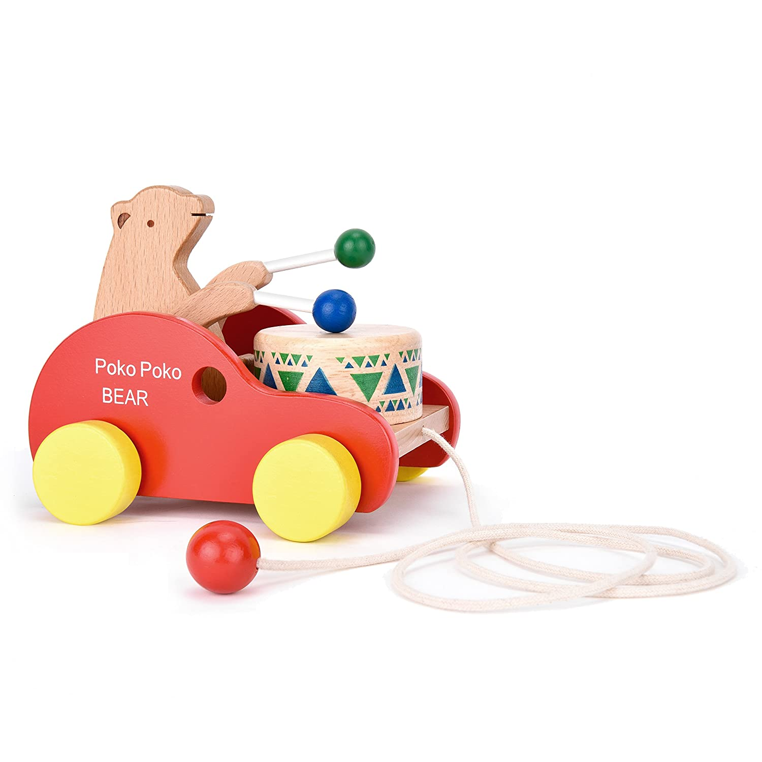 hot sale Wooden Pull Along Toy Safe&Care Kids Creative