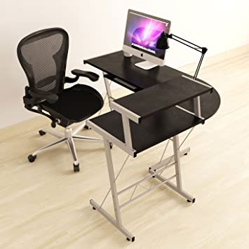 Amazon.com: BHG L Shape Computer Desk, Black: Home & Kitchen