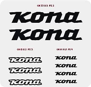 0101 - Pegatinas para bicicleta Kona, en kit de 9 unidades ...