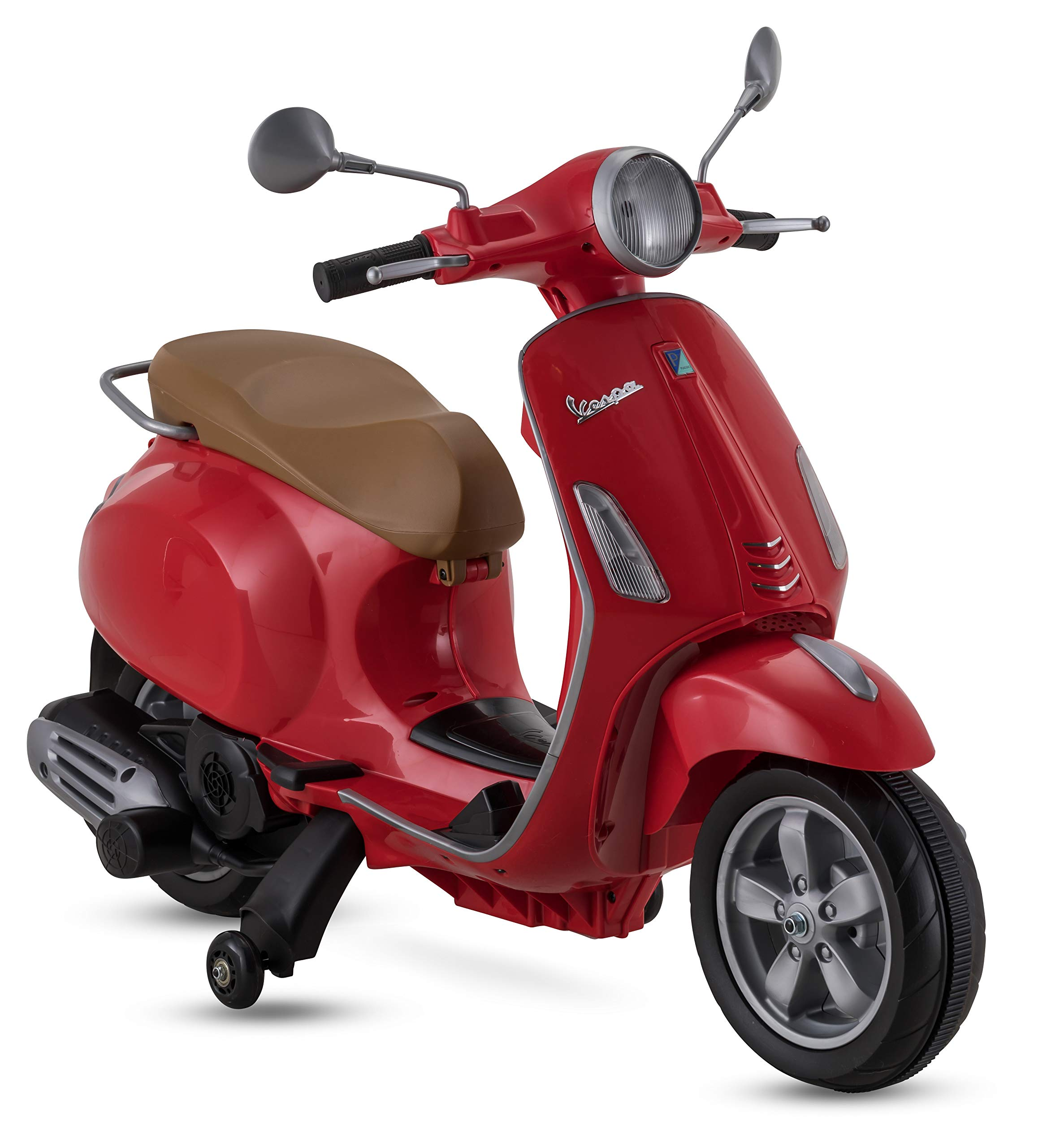 Kid Trax Vespa Scooter, 6V Ride-On Toy in Red by Kid Trax