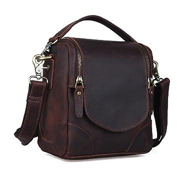 Amazon.com : Waterproof Vintage Leather DSLR Camera Bag Shoulder ...