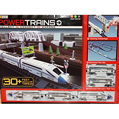 Power Trains Motorized Deluxe City Train Set with 30+ Feet of Track: Toys & Games
