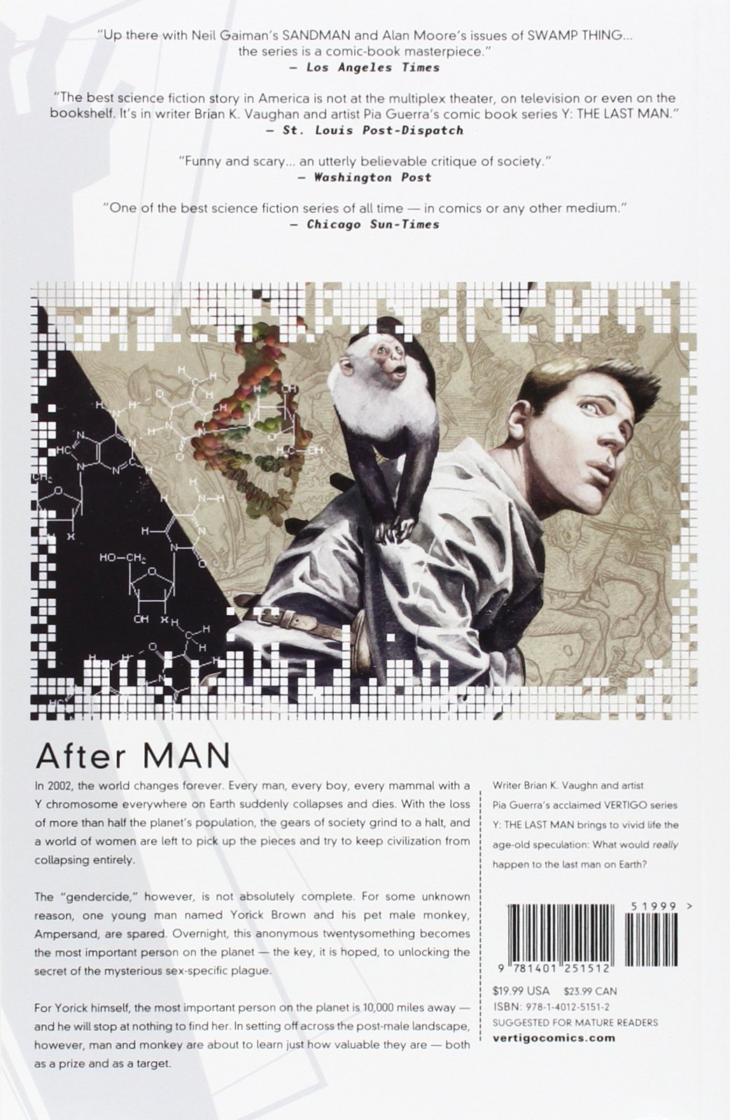 Y: The Last Man Book One: Brian K. Vaughan, Pia Guerra, Jose Marzan Jr.:  9781401251512: Amazon.com: Books