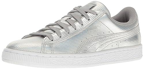 Puma Women's Basket Holographic Sneakers, Puma Silver, ...