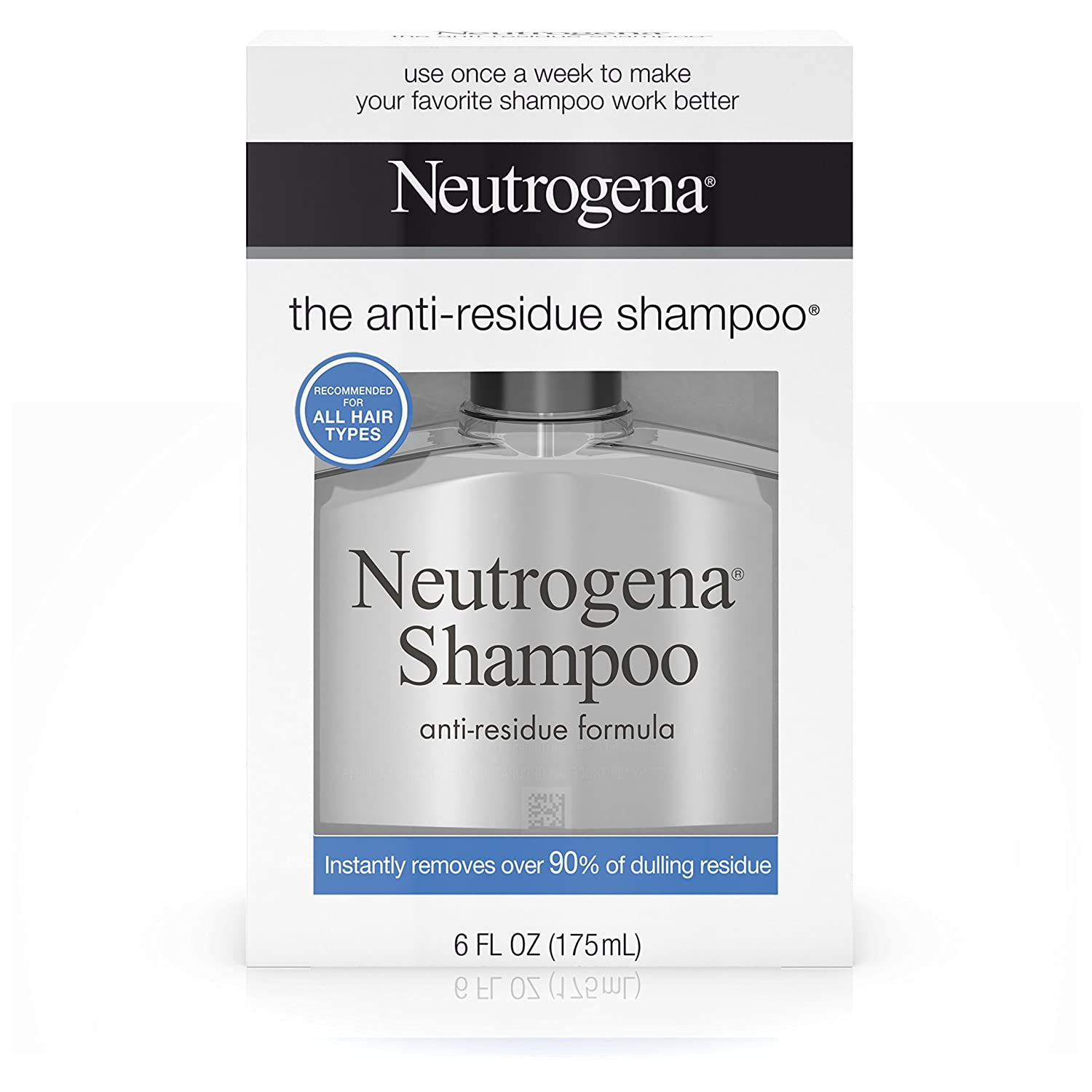 Neutrogena Anti-Residue Shampoo, Gentle Non-Irritating Clarifying Shampoo to Remove Hair Build-Up & Residue, 6 fl. oz ( Pack of 6)