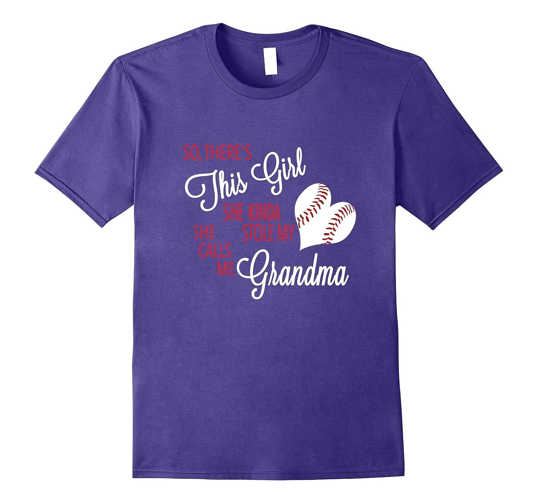 This Girl Stole My Softball Heart Calls Me Grandma T Shirt