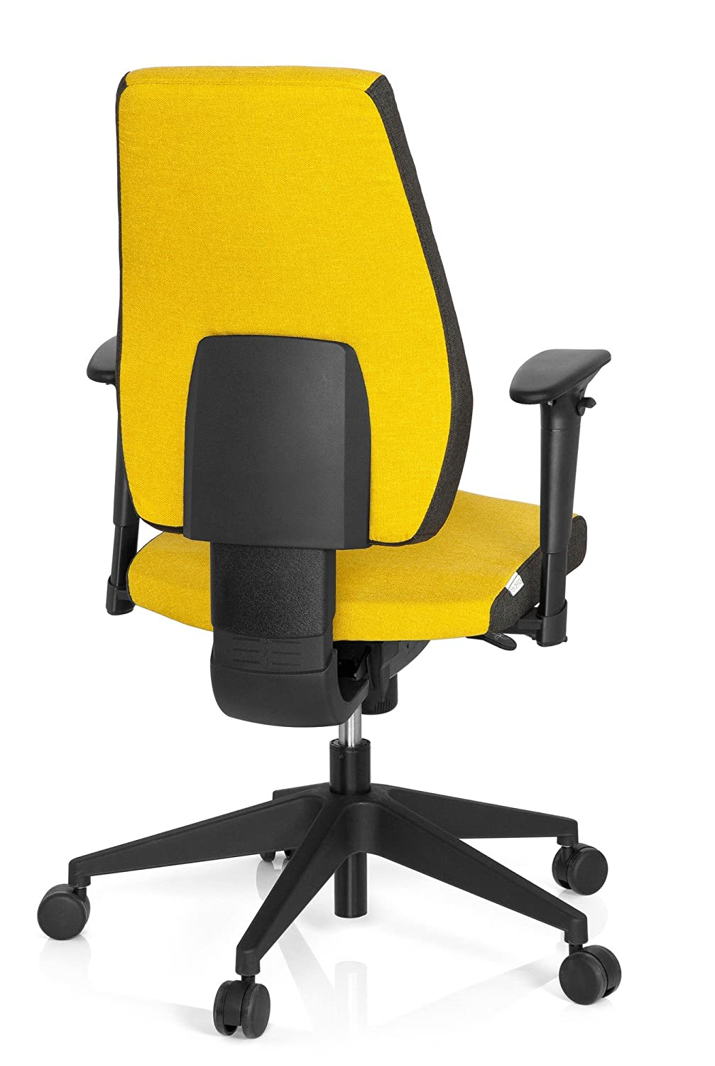 tejido de color marengo y curry Silla giratoria de oficina hjh OFFICE 608820 PRO-TEC 500