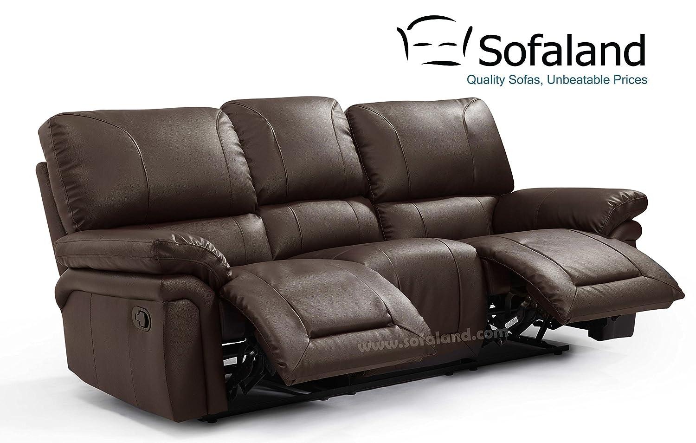 Hugo 3 plazas reclinable sofá - marrón: Amazon.es: Hogar