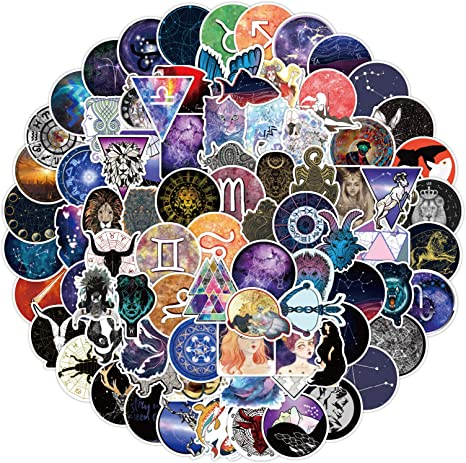 Aries Flower Constellation Vinyl Sticker・Waterproof Stickers・Water Bottle Stickers・Car Stickers・Laptop Stickers・Weatherproof Stickers