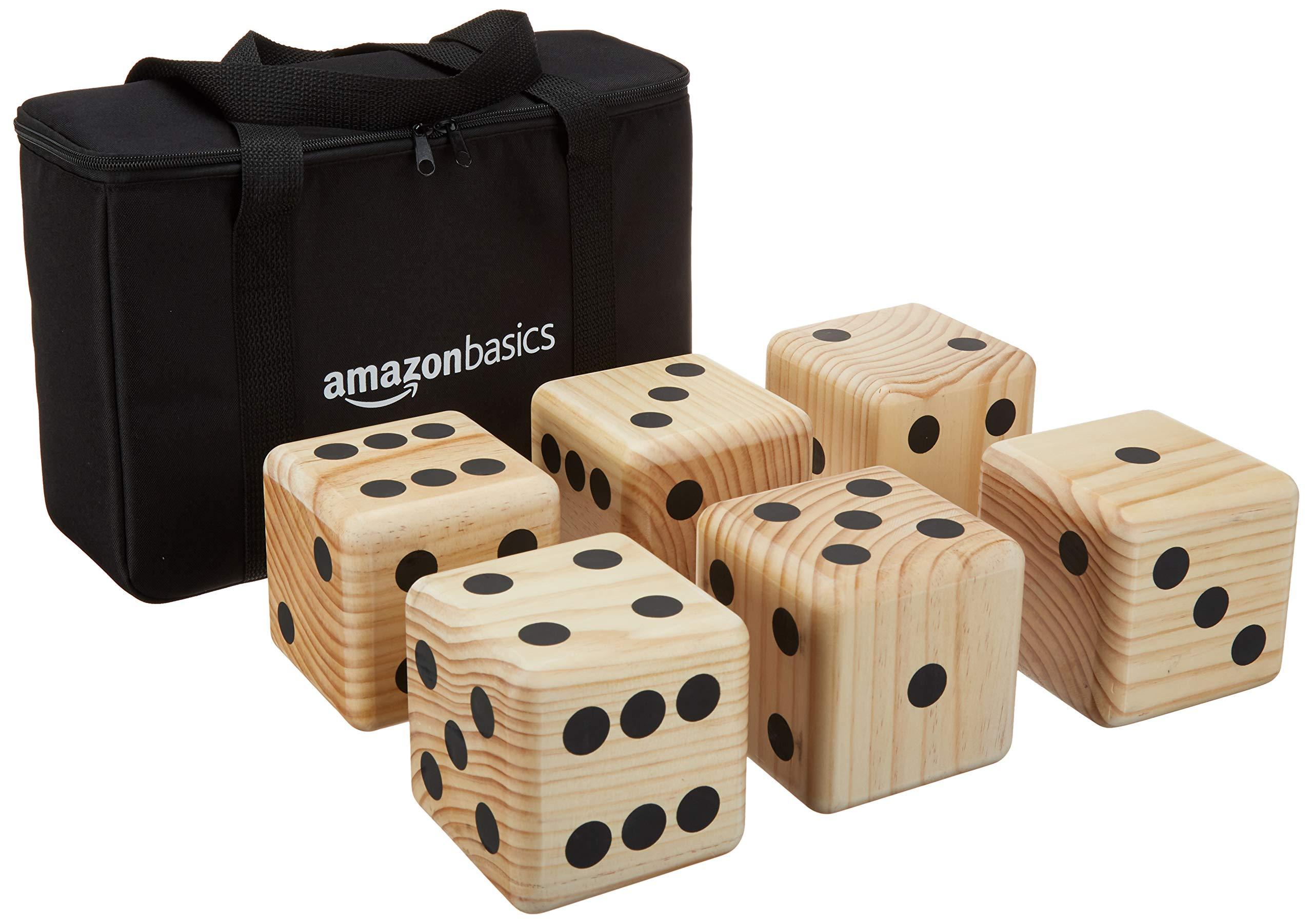 Amazon Basics Giant Wooden Dice Set