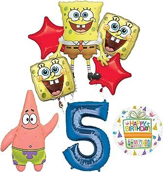 Amazon.com: Spongebob Squarepants 5th Fiesta de cumpleaños ...