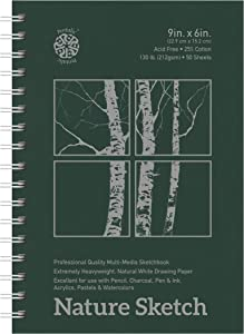 Pentalic Nature Sketch Pad, 9-Inch by 6-Inch