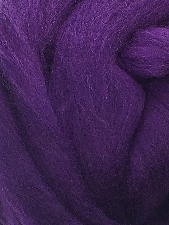 Purple Grape Wool Top Roving Fiber Spinning Felting Crafts USA 4oz
