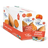 Plum Organics Stage 1, Organic Baby Food, Just Sweet Potato, 3.0 ounce pouch (Pack of 12)