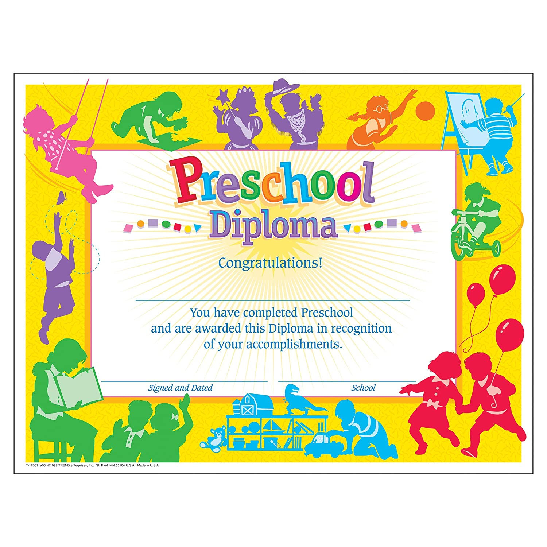 awards certificates com office school supplies  classic preschool diploma pack of 30
