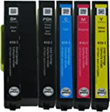 Genuine Epson 410 Initial Ink Cartridge 5 Pack for Expression Premium XP-530 XP-630 XP-635 XP-830 Printer