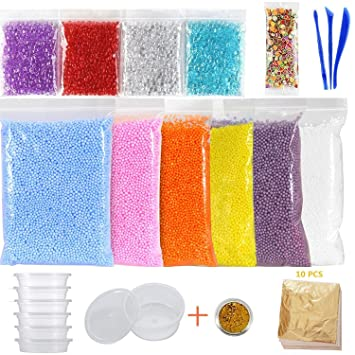 Kinxor 15 Pack Kit para hacer Slime, Pecera abalorios, Contenedores de almacenamiento de pelotas