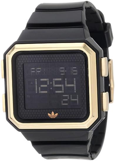 adidas Originals adidas Originals - Reloj digital de cuarzo para hombre con correa de caucho, color negro: Adidas: Amazon.es: Relojes