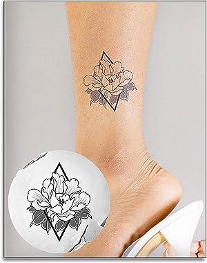 Inkbox, Temporary Tattoos, Semi Permanent Tattoo, Henna, One Premium Easy Long Lasting, Waterproof Inkbox Tattoo with For Now Ink. Lasts 1-2 Weeks, Flower Tattoo, Unik, 3x3in