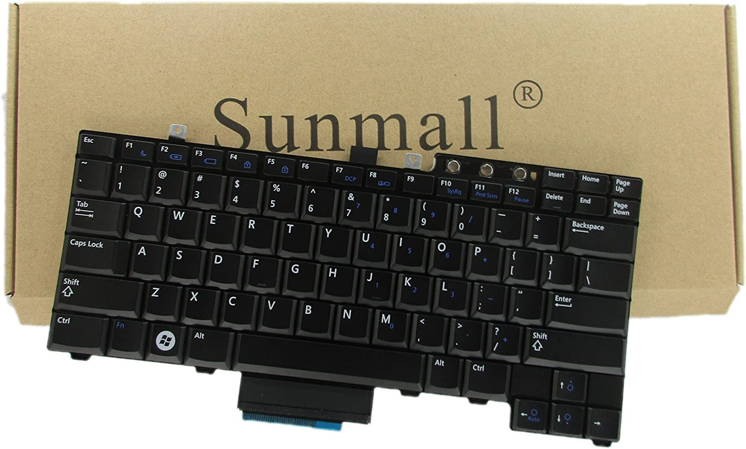 SUNMALL Laptop Keyboard Replacement (NO Pointing Stick) Compatible with Dell Latitude E5300 E5400 E5500 E5410 E5510 Series P/N: FM753 0FM753 FNGF0 0FNGF0 NSK-DBB1D US Layout