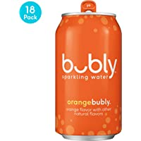 18-Pack Bubly 12 oz Cans Sparkling Water (Orange)