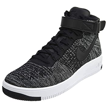 Nike Mens Ultra Flyknit Mid - Zapatos de baloncesto para hombre, Negro (Black/