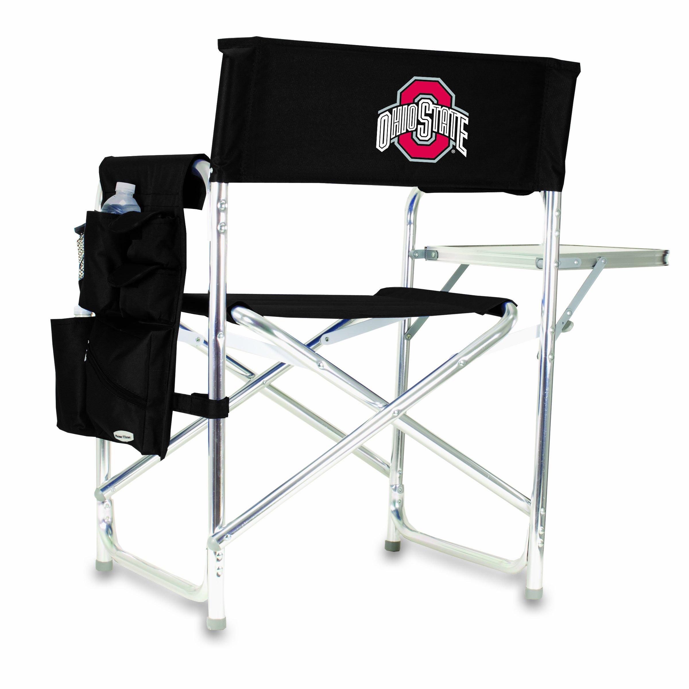 NCAA Ohio State Buckeyes Portable Folding Sports Chair, Black