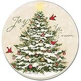 CounterArt Joy of the Season- Christmas Tree Absorbent Coasters, Set of 4