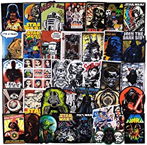100 Pcs Funny Waterproof Vinyl Graffiti Stickers For Star War,Bulk Stickers For Water Bottle Luggage Helmet Phone MacBook Guitar Bike Laptop Hydrolask Car Cool Decals Pack For Girls Teens Boys Adults.