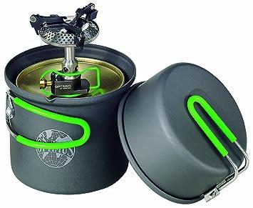 Optimus Crux Lite - Hornillo de gas con accesorio para cocinar Terra Solo (0,