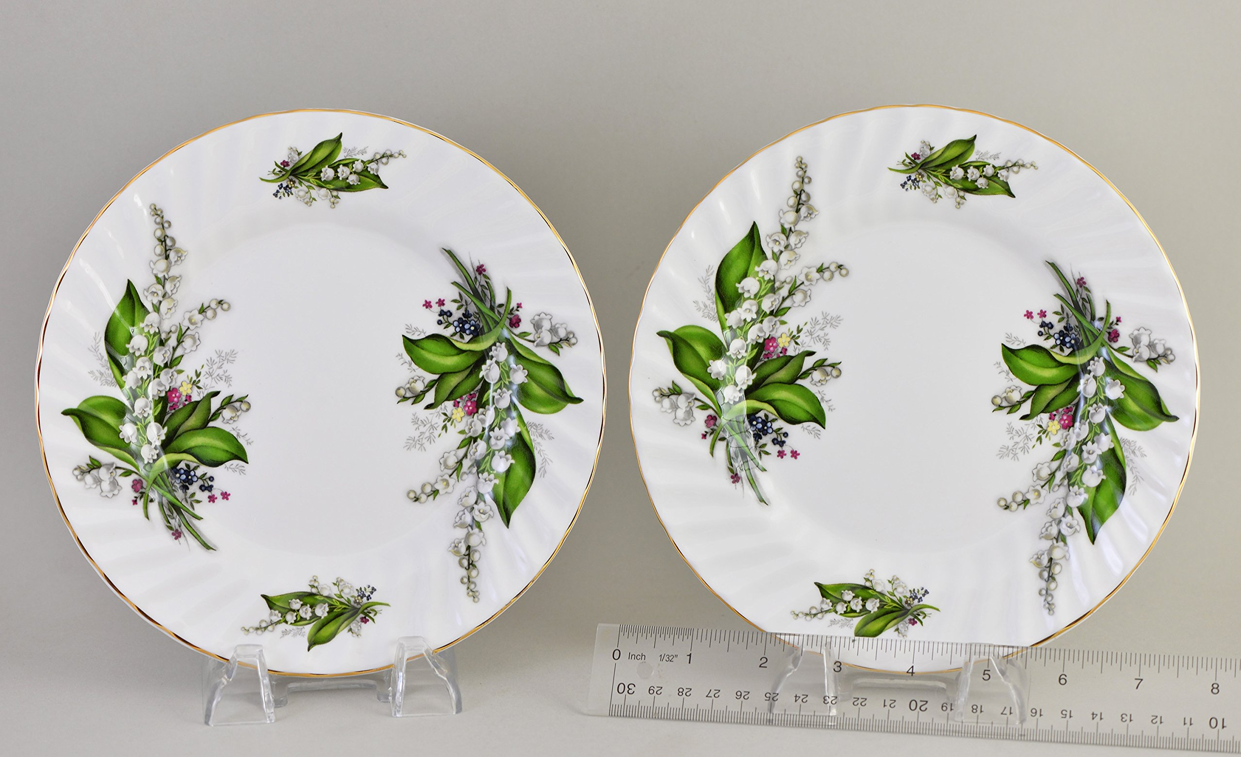 LILY OF THE VALLEY 8'' Plate, set of 2 - Fine English Bone China
