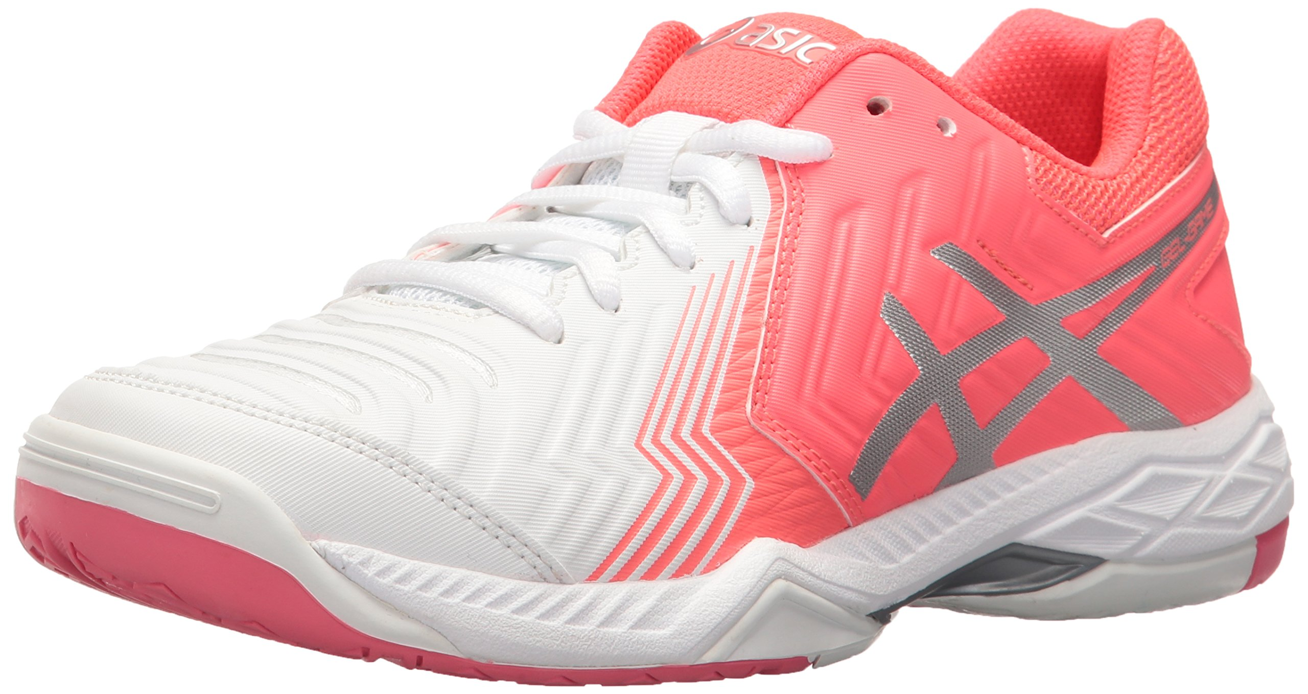 ASICS Women's Gel Game 6 Tennis Shoe WhiteDiva PinkSilver 9.5 M US